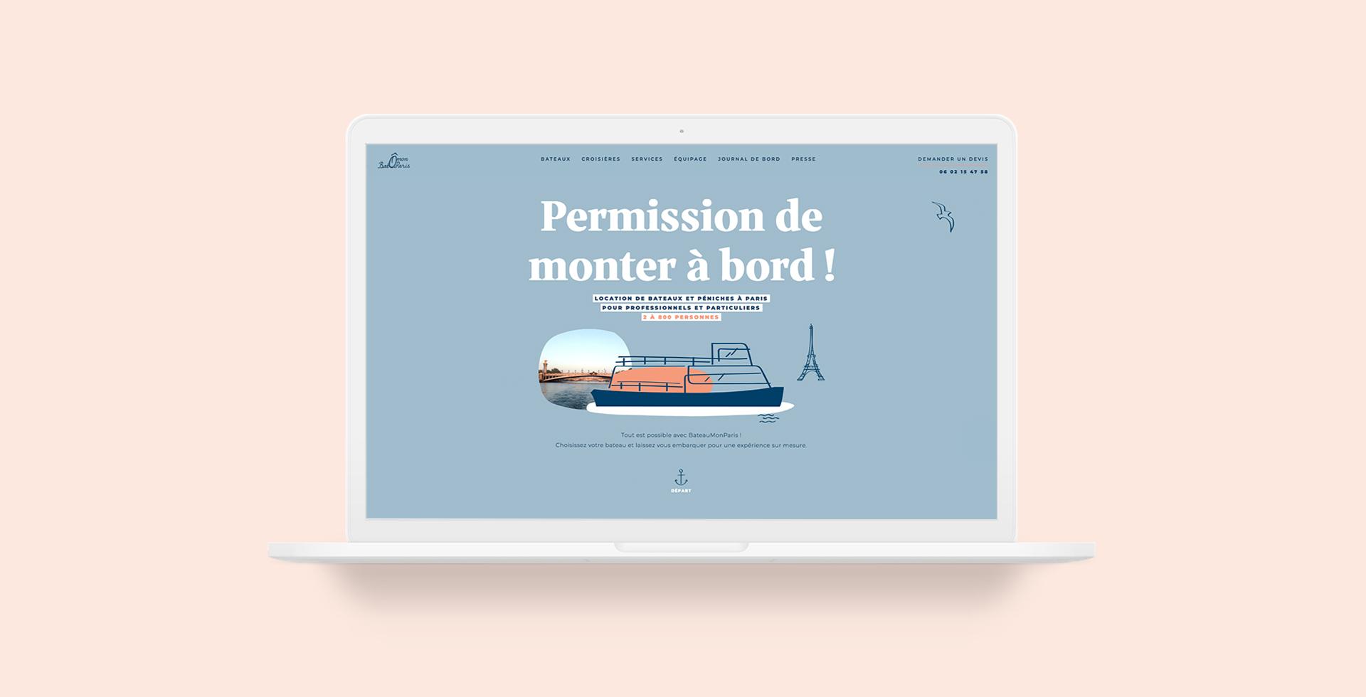 BateauMonParis nouveau site web vitrine création par agence communication Buzznative à Orléans Paris
