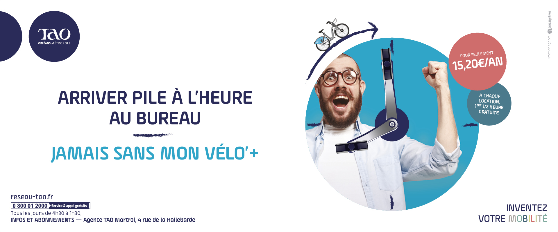 Campagne communication TAO Orléans Métropole Flash Ticket par agence publicité Buzznative